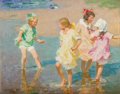 """""""Water Lilies,"""" Edward Henry Potthast, 1917, oil on canvas, private collection."""