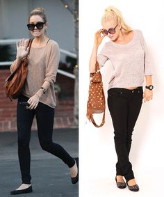 We love the black & taupe color combination for fall.Repin if you would wear this #outfit!