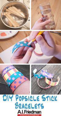 DIY Popsicle Stick Bracelets Tutorial http://www.bjcraftsupplies.com/wooden/wooden-crafts01.asp