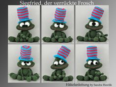 Häkelanleitung, DIY - Siegfried, der verrückte Frosch - Ebook, PDF
