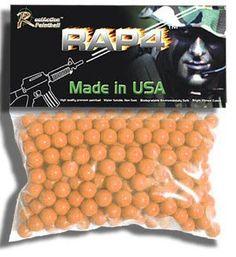 RAM RAP4 .43 Caliber Paintballs, Orange, 250ct by Rap4. $15.95. Introducing RAP4 new .43 Caliber Paintballs. These new paintballs use the same high-quality AG1 Paintball formula that makes RAP4 .68 caliber paint work so well!  Based on the AG1 Paintball formula, these new paintballs yield peak performance to work in all markers under all conditions of use. The AG1 formula strengthens the shell and helps prevent chamber breaks. This also helps standardize their...