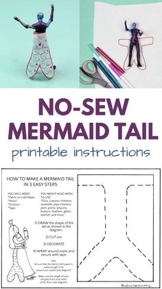 Diy Mermaid Tail, Fabric Crafts, Paper Crafts, The Diagram, Easy Crafts For Kids, Craft Activities, Kids And Parenting, Make Your Own, Arts And Crafts
