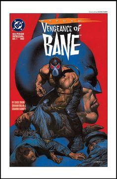Batman Vengeance of Bane, cover by Glen Fabry Comic Book Villains, Marvel Villains, Comic Books, Batman Comics, Dc Comics, American Islands, American Comics, Cool Paintings, Comic Book Covers