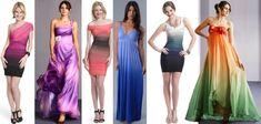 Платья с градиентом   Так, например, женщинам с широким верхом и узким низом, противопоказаны платья с градиентом от светлого верха к темному низу.