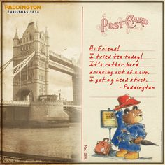 A postcard from Paddington! Print for your little ones, to encourage sharing stories!