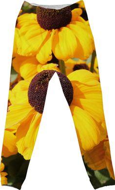 Bright yellow Black-Eyed Susans Pants #jogginghose