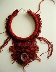 VOGLI jewelry: wool, crochet wire