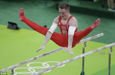 Great Britain's Nile Wilson performs on the parallel bars during the men's team final Gymnastics Posters, Gymnastics Team, Artistic Gymnastics, Olympic Medals, Olympic Sports, Olympic Games, Martial, Nile Wilson, Mens Leotard