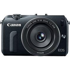 Canon EOS-M Digital Camera with EF-M 22mm f/2 STM Lens - Black - EOS M | Videoguys Australia
