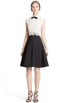 e08777f070d Valentino Tie Neck Lace Bodice Fit  amp  Flare Dress available at   Nordstrom A Line