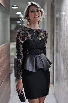 vestidos peplum com renda 1