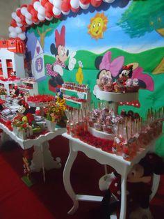 """Blogg da Mirian: Festinha de aniversário """"Tema Minnie"""""""