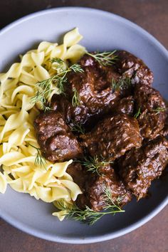 Austrian Beef Stew with Paprika and Caraway (Rindsgulasch) from Christopher Kimball's Milk Street Veal Recipes, Cookbook Recipes, Cooking Recipes, Yummy Recipes, Dinner Recipes, Slow Cooking, Cooking Time, Dinner Ideas, Austrian Recipes