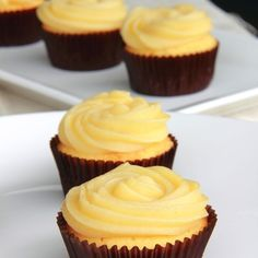 Chamomile Lemon Cupcakes with Honey Buttercream Frosting recipe on Food52