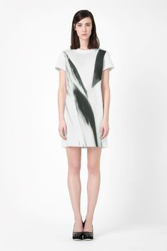 Front print dress
