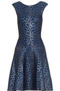 ISSA foil print ribbed -knit dress @ Net-A-Porter.com
