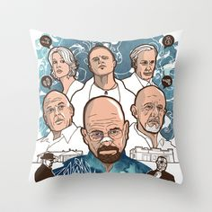 Breaking Bad: The Good, The Bad & The Ugly Throw Pillow by Geo Law - $20.00