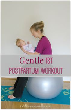 Gentle First Postpartum Workout. Gentle, short, and you don't have to leave your living room or your baby!