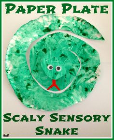House of Burke: Paper Plate Scaly Sensory Snake