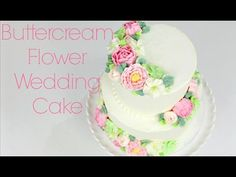 ▶ Buttercream Flower Wedding Cake Tutorial - Pipe on parchment squares, put in fridge for 20 minutes, pipe buttercream on cake and place flower!