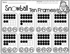 Adding with Ten Frames FREEBIE -- reading, writing, and math printable pages Preschool Math, Math Classroom, Kindergarten Activities, Fun Math, Teaching Math, Winter Activities, Math Literacy, Free Activities, Math Numbers