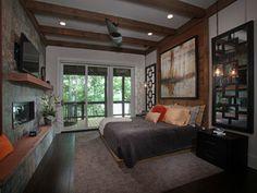 warm master bedroom look