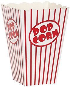 Movie Theater Red and White Striped Popcorn Boxes, (Pack of Popcorn Containers, Popcorn Cups, Popcorn Maker, Popcorn Boxes, Sleepover Birthday Parties, Party Favors For Kids Birthday, Party Box, Oscar Party, Party Marty