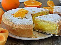 Torta della nonna con crema alle arance ricetta facile