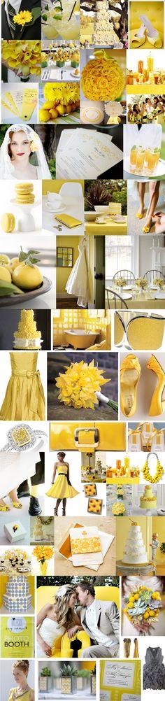 wedding inspiration: yellow