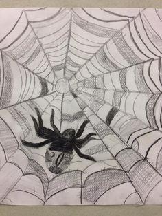 Mahdollisimman totuudenmukainen hämähäkki (3.lk) FB:n Alkuopettajat -sivustosta / Johanna Marjomäki