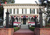 First white house of the confederacy. Most of the furnishings used by Jefferson Davis are housed in this building.
