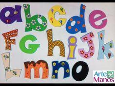Alphabet in Foami or Goma Eva, weapon the name you prefer Abc Letra, Foam Crafts, Craft Foam, Advent Calendar, Kids Rugs, Dolls, Education, Holiday Decor, Crochet