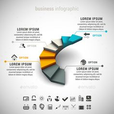 Business Infographic — Vector EPS #template #orange • Available here → https://graphicriver.net/item/business-infographic/9377030?ref=pxcr
