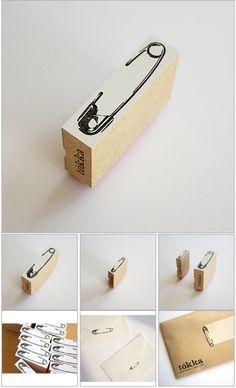 safety pin stamp