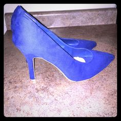 Size 12W heels Blue, pointy toe heels ,  3 1/2 inch heels, size 12w, never been worn Shoes Heels