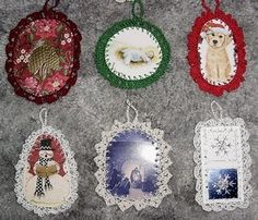 Use those old Christmas cards to make pretty ornaments for your