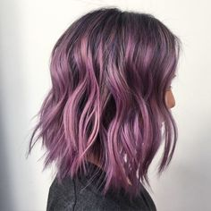 play with color this spring. a purple balayage for the season!!
