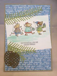 Stampin mit Scraproomboom - Stampin' Up! - Tannen und Zapfen, Festtagsmäuse