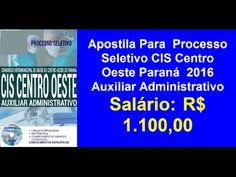 Apostila Concurso CIS Centro Oeste Auxiliar Administrativo Paraná 2016