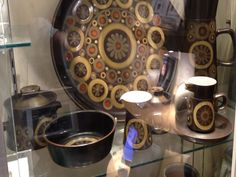 Denby. Arabesque. 1962-63. Image taken at Denby Pottery musuem, a small selection of the work on display.