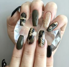 Camouflage Nail Design Nails In 2018 Pinterest Nails Nail