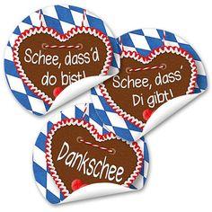 Traditionelle und doch originelle  Sticker im Bayern-Stil!