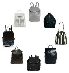 """""""Top 8 RUCKSACKS"""" by stacyco ❤ liked on Polyvore featuring Elizabeth and James, Grafea, Jérôme Dreyfuss, Alexander Wang, Pieces, STELLA McCARTNEY, ASOS, Rucksack and backpack"""