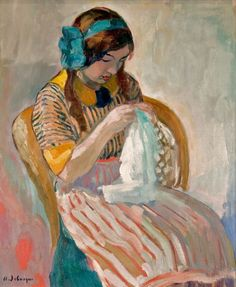 henri lebasque/1865-1937/'younge girl sewing' - Pictify - your social art network