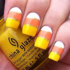 Candy Corn Nails (I wonder who gave me this idea)
