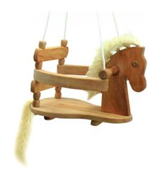 Wooden Horse Swing for Babies & Toddlers - Nova Natural Toys + Crafts