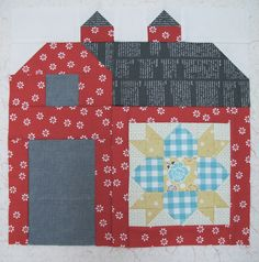 Quilty Barn along {Bee In My Bonnet}.  I don't know if I will make 12 barn blocks.  Maybe just 4 for a wall-hanging but I would like to participate.