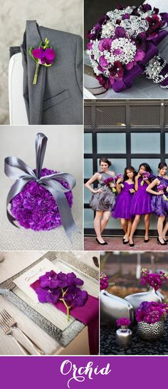 Orchid is such a radiant color!  pair it with grey and you have a spectacular wedding color!**My favorite so far!!! Love it!