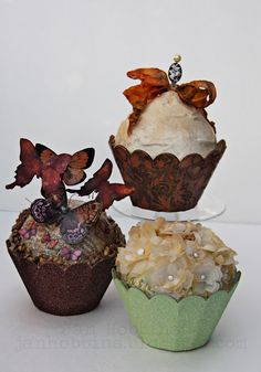 Eileen Hull Sizzix Cupcake Treat Boxes