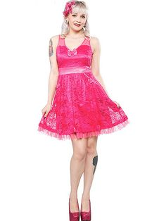 COM OFF AT CHECKOUT WITH CODE This Tear up the Town dress will have you  doing just that! With a pink lace overlay 44d9414dd